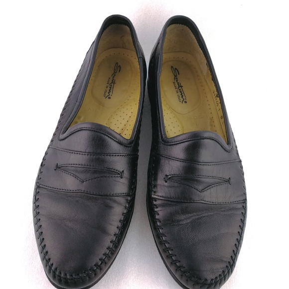 0cbc3c4a8f5 Men s 10D Black Penny Loafers Calf Leather